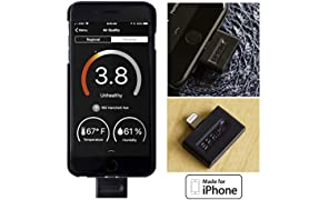 Air Quality Tester for iPhone: Real-time Indoor/Outdoor Fumes Pollution Monitor Sensor Tracker Detector Indicator Spotter Locator