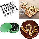 Mikey Store 26Pcs DIY Biscuit Cake Mold Cutter Letters Alphabet Shape Mould Fondant Cookie (A)