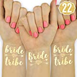 Toys : xo, Fetti 22 Bride Tribe Flash Tattoos - Gold | Bachelorette Party Decorations, Bridesmaid Gift + Bride To Be Favor