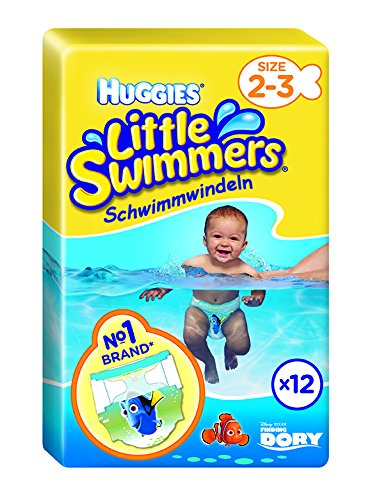 Huggies Little Swimmers Swim Nappies, Size 2-3, Designs May Vary – 12 per Pack