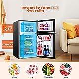 TACKLIFE Compact Refrigerator, 3.2 Cu.Ft, 2-Door