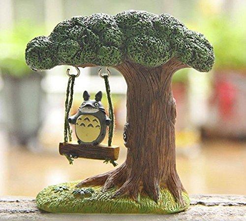 [Studio Ghibli Totoro Figure DIY Miyazaki My Neighbor Totoro Swing Tree Resin Action Figure Toy Classic Model Toys for Home] (Totoro Diy Costume)