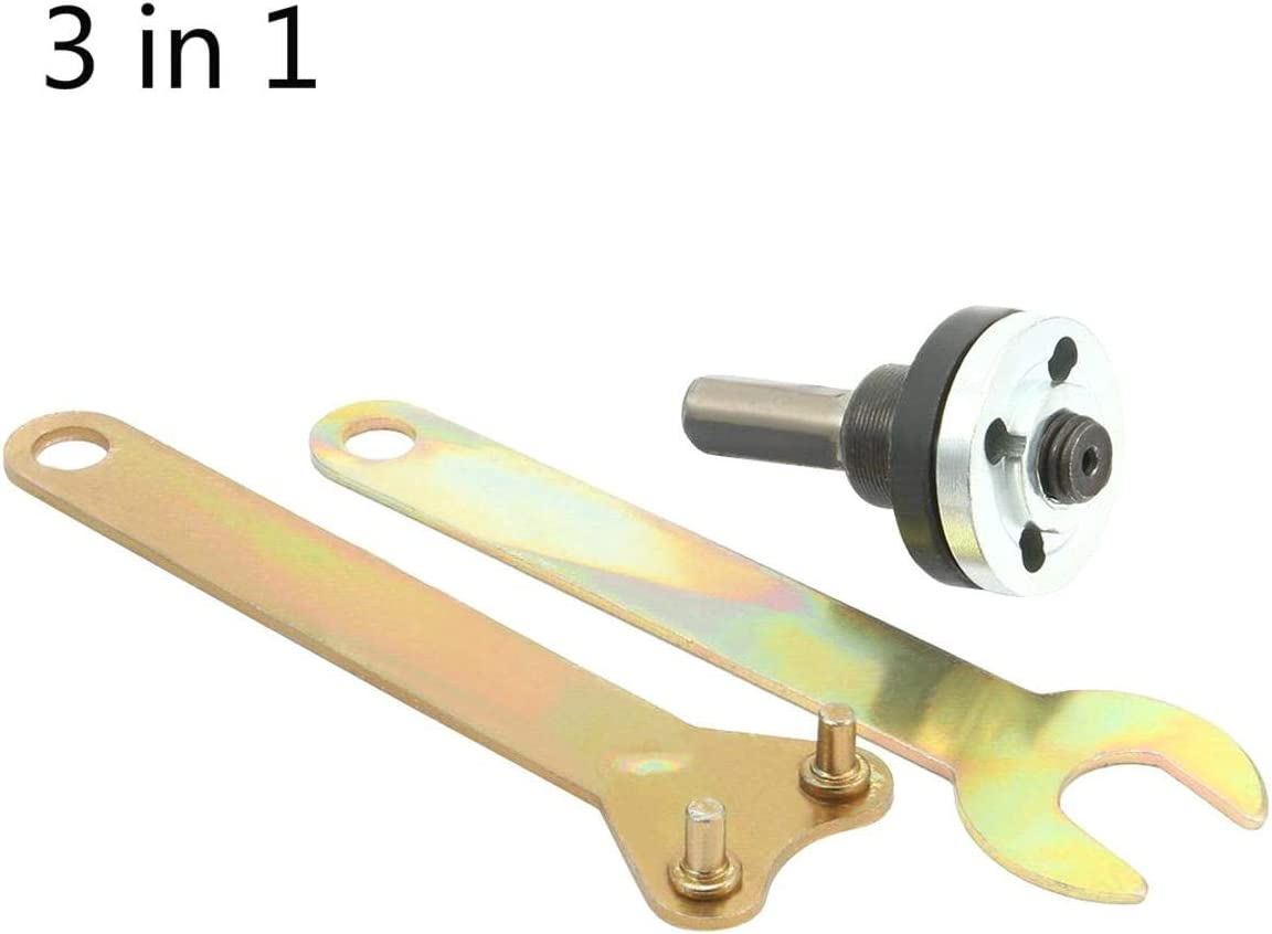 CLTYQ Drill Disc Holder Wrench 3 in 1 Angle Grinder Mandrel Adapter Set 16mm 5//8-inch