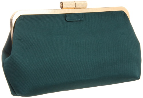BCBG Kate OFO371FA Clutch,Emerald,One Size, Bags Central
