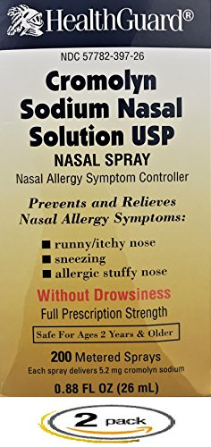 Cromolyn Sodium Nasal Solution 26mL *Pack of 2 Bottles Only by Cromolyn