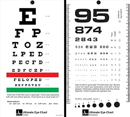 Mccoy Ultimate Rosenbaumsnellen Pocket Eye Chart By Mccoy