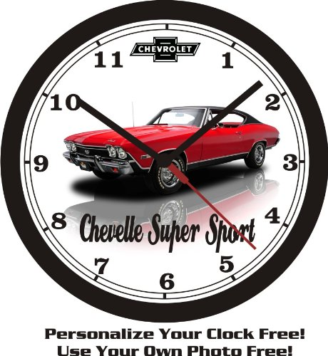1968 CHEVROLET CHEVELLE SUPER SPORT WALL CLOCK-FREE USA SHIP-Choose 1 of 3 (Honda Clock Wall)