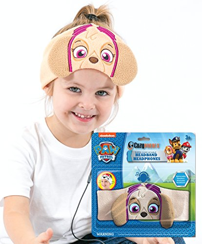 Paw Patrol Kids Headphones by CozyPhones - Volume Limited with Ultra-Thin Speakers & Comfortable Soft Fleece Headband - Perfect Children's Earphones for School, Home and Travel – SKYE