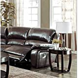 Coaster Home Furnishings 600357B6 Casual Sectional Sofa Left Reclining Arm, Brown (Left Reclining Arm Only)