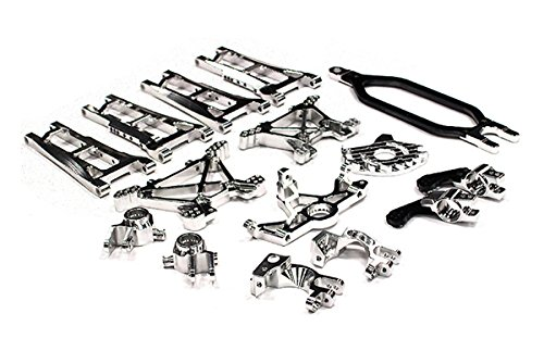 Integy RC Hobby T8558SILVER Billet Machined Alloy Conversion Set for Traxxas 1/10 Stampede 4X4