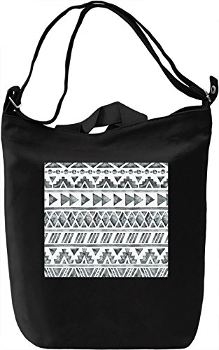 Black and White Pattern Full Print Borsa Giornaliera Canvas Canvas Day Bag| 100% Premium Cotton Canvas| DTG Printing|