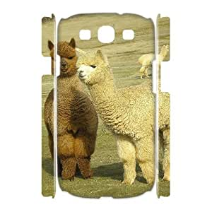 J-LV-F Lama Pacos Customized Hard 3D Case For Samsung Galaxy S3 I9300
