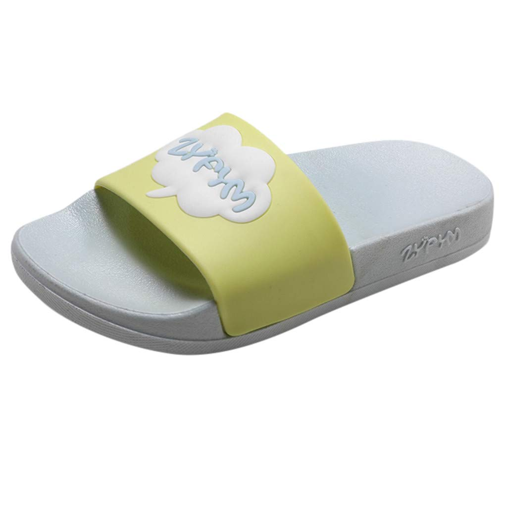 Tantisy ♣↭♣ Boys Girls Slide Sandals Kids Outdoor Beach Pool Sandal Soft Unicorn Bath Slippers (Toddler/Little Kid) Gray