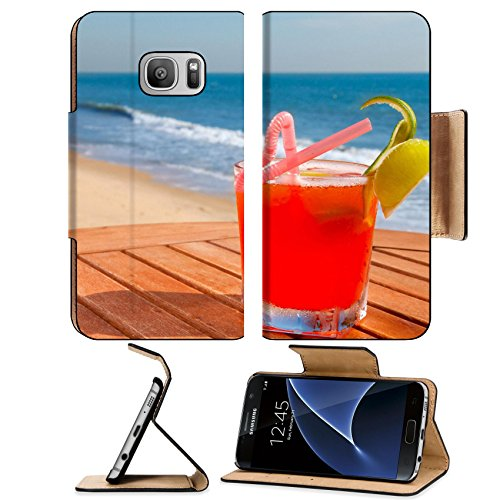 Luxlady Premium Samsung Galaxy S7 Flip Pu Leather Wallet Case IMAGE ID 20972989 cocktail on the wooden table with crushed ice