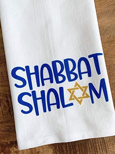Passover Decorations - Shabbat Kitchen Towel Jewish Sabbath Hostess