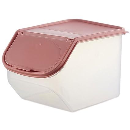nikgic Arroz recipiente contenedor Portable Alimentos Caja Plástico dispensador de cereales de arroz de Crisper schütt