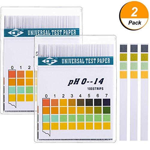 Hicarer Universal pH Test Paper Strips for Test Body Acid Alkaline pH Level, Skin Care, Aquariums, Drinking Water,...
