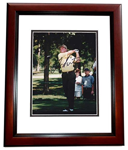 (Tom Kite Signed - Autographed Golf 8x10 inch Photo MAHOGANY CUSTOM FRAME)