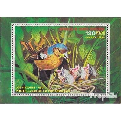 Äquatorialguinea Un Bloc 240 (complète.Unusg.) 1976 asie Oiseaux (Timbres pour les collectionneurs)
