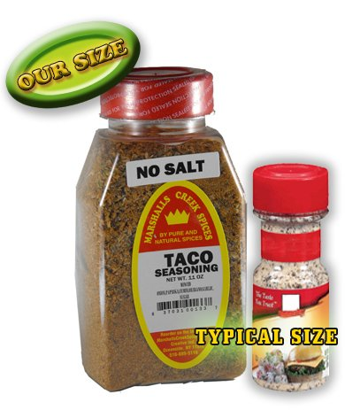Marshalls Creek Spices Taco No Salt Seasoning, New Size, 11 Ounce