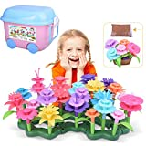 Kuman Flower Garden Building Set 152 PCS Creative DIY Garden Bouquet Building Blocks, Educational Toys Birthday Gifts for 3,4,5,6,7 Years Old Girls