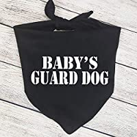 Cute Baby's Guard Dog Bandana Baby Announcement Bandana Pregnancy Announcement Photos