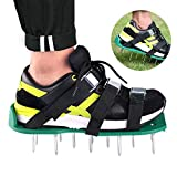 Eleloveph Lawn Aerator Shoes - Heavy Duty Steel Spikes, Adjustable Straps, Zinc Alloy Buckles with Wrench and Bonus Spare Parts -Universal Size That Fits All - for a Greener and Healthier Garden