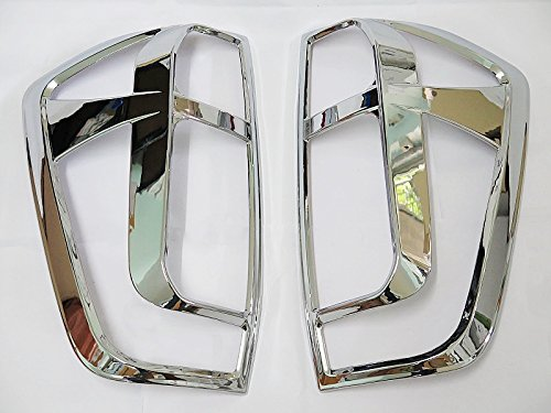 CHROME TAILLIGHT COVER LAMPS PAIR TRIM FOR NEW NISSAN NAVARA NP300 PICKUP 2015 2016