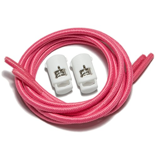Race Off Stretch Lock Pink White Laces with iBungee Laces xw0RFTppq