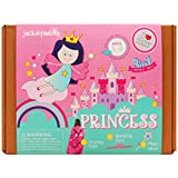 Art and Craft Costume Kit for Kids - Princess 3-in-1 DIY Activities Pretend Play Costumes for Girls Ages 5-8, Perfect Birthday Gift for Girls Learning Stem Toys by JackInTheBox