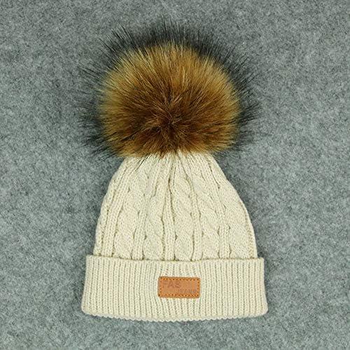 Bébé hiver chaud Grand Pom Pom chapeau 6-18 mois en tricot torsadé bébé tricoté Beanie