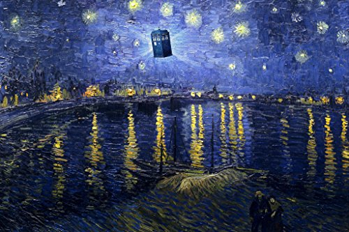 Tardis Starry Night Rhone Poster product image