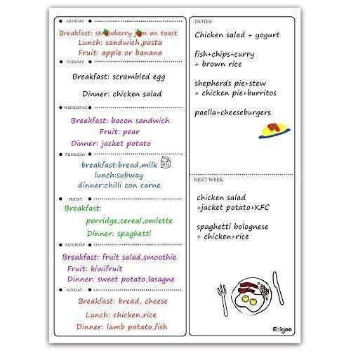 49 opinioni per Ezigoo Lavagna Magnetica Frigorifero – Planning Magnetico Settimanale Bianco