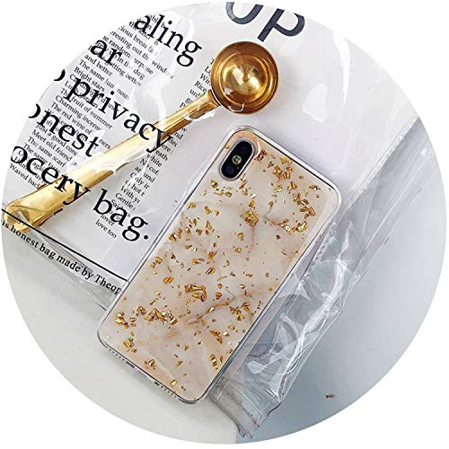 - Luxury Gold Foil Bling Marble Phone Case for iPhone X XS Max XR Soft TPU Cover for iPhone 7 8 6 6s Plus Glitter Case Coque Funda,Beige,for iPhone 7 Plus