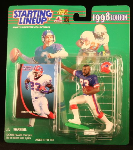 ANTOWAIN SMITH / BUFFALO BILLS 1998 NFL Starting Lineup Action Figure & Exclusive NFL Collector Trading Card (Redskins Locker Washington Room Nfl)