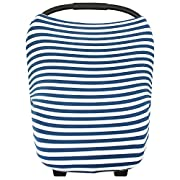 Baby Car Seat Cover Canopy and Nursing Cover Multi-Use Stretchy 5 in 1 Gift  The Sailor  by Copper Pearl
