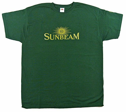 Sunbeam Motor Cycles Logo T-Shirt – grün/gold in Größe Large (40 bis 106,7 cm) –