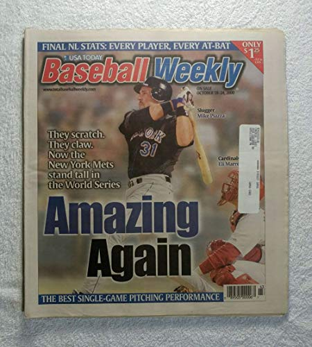 Mike Piazza (New York Mets) - Amazing Again - 2000 World Series - Baseball Weekly Magazine - October 18, 2000 - The Best Single-Game Pitching Performance article ()