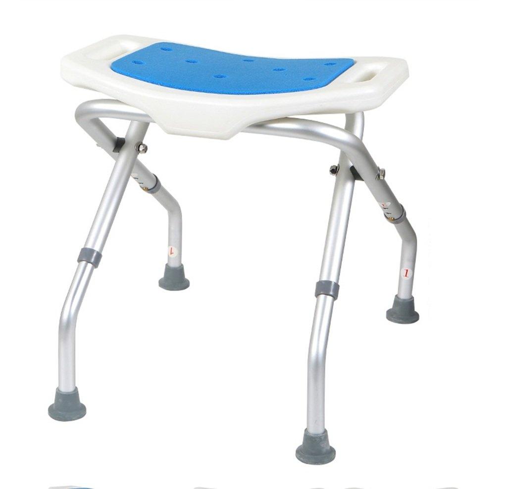 シャワー椅子、折りたたみ式バスルーム老人妊娠中の女性バスチェアシャワーチェア B07BK1C7CS