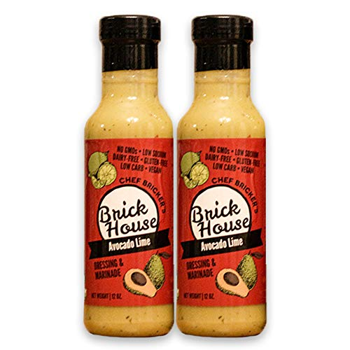 Brick House Vinaigrettes: Avocado Lime Vegan Salad Dressing And Marinade With Non-GMO Hemp Oil & Grapeseed Oil. Low Sodium/Low Carb/Low Sugar, Gluten Free/Dairy Free/Soy Free (Avocado Lime 12oz 2-ct).