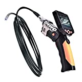 LEMONBEST Hand Held 3.5 Inches Video Inspection Camera Snake Probe Borescope 4x Zoom Rotate Video 3.0 Megapixels Monitor Endoscope Inspection Camera 3m/9.9ft Probe with USB cable, remote control cord,video output cord and Hook Mirror Magnet accessories