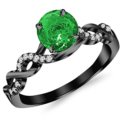 0.5 Ct Emerald Ring - 8