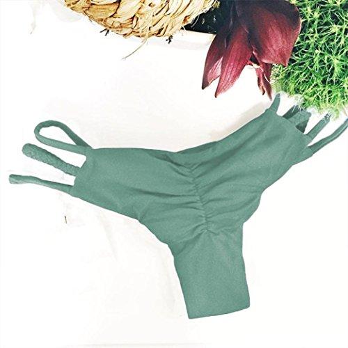 VENMO Mujer Tejen Braguitas Vendaje Bikini Ropa Interior Swimwear Verde
