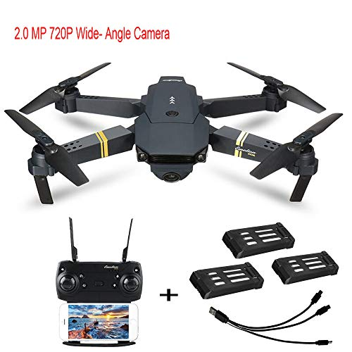 LtrottedJ E58 2MP w/ 720P Camera WiFi FPV Foldable Selfie Drone RC Quadcopter RTF