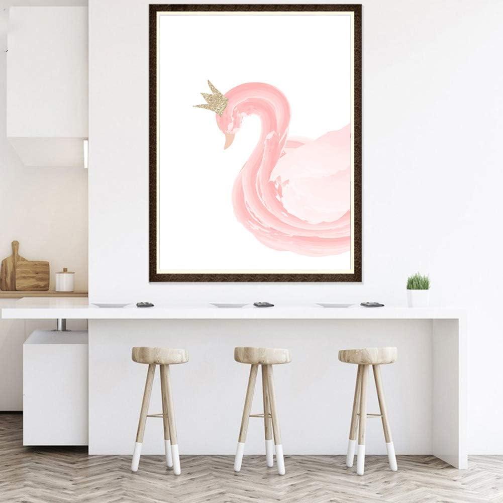 Lsgepavilion Peinture sur Toile Motif Cygne Danseuse D/écoration Murale Salon Chambre denfant 30 * 40cm Toile 2