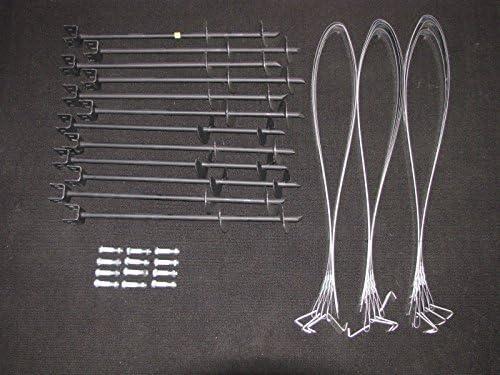 モバイルホームパーツのセット12Augerタイプアンカー、タイダウンストラップとボルト