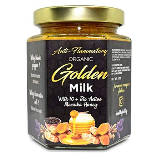 Golden Milk, Organic Golden Milk turmeric curcumin manuka honey paste. 100% organics all ingredients