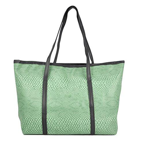 Sodial (r) Borsa Donna Coreana In Pelle Con Tracolla - Verde