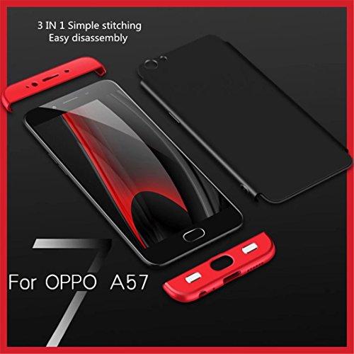 Funda Samsung Galaxy A8 Plus 2018 360 grados Plata Negro Ultra delgado Todo incluido Caja del teléfono de la protección 3 en 1 PC case JOYTAG-Plata Negro Rojo