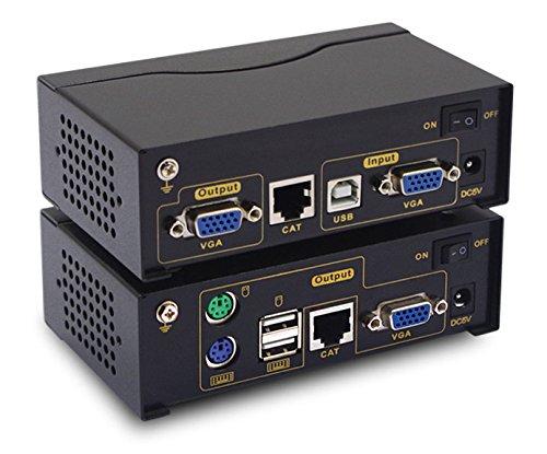 - CKL 2016 New USB KVM Extender Receiver Remote Access Control VGA PC Computer Server Up to 120M/354Ft Over Cat5e/6e CKL-4150AUP